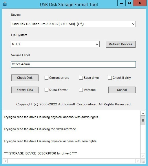 usb flash drive format software free download