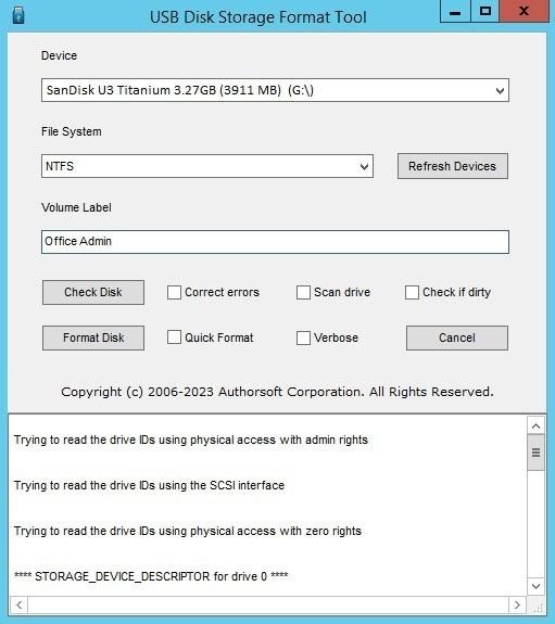 external hard disk format software free download